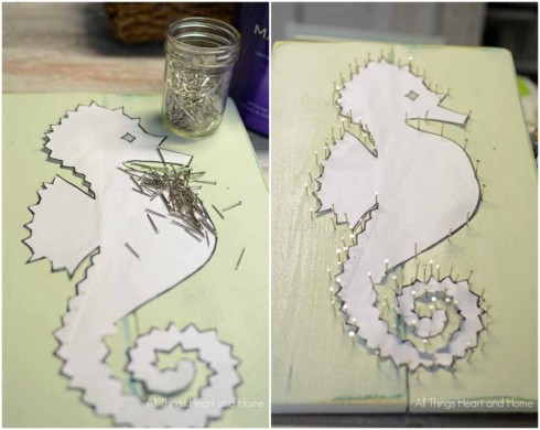 Easy Sea Horse String Art All Things Heart And Home