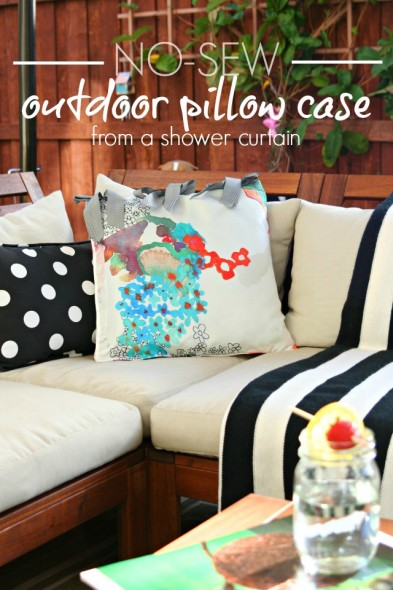 no-sew-outdoor-pillow-case-from-a-shower-curtain