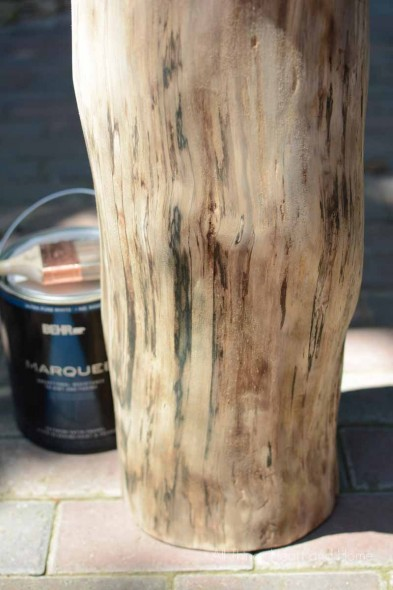 Painted Tree Stump Table
