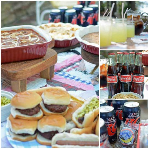 food at vintage parade and picnic