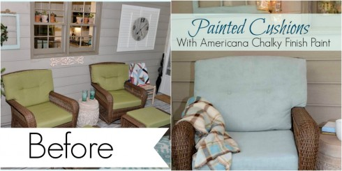 Painted Cushions with Chalky Finish Paint