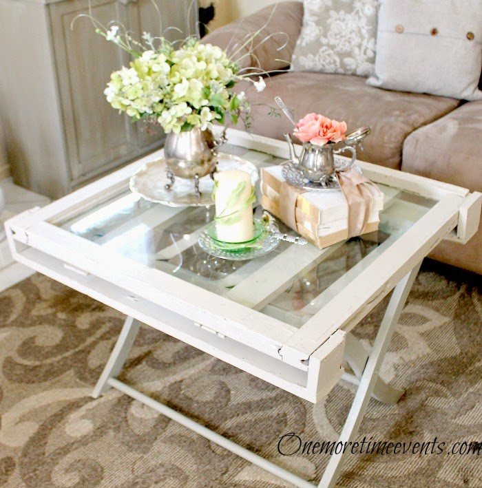 Window coffee Table side view vignette