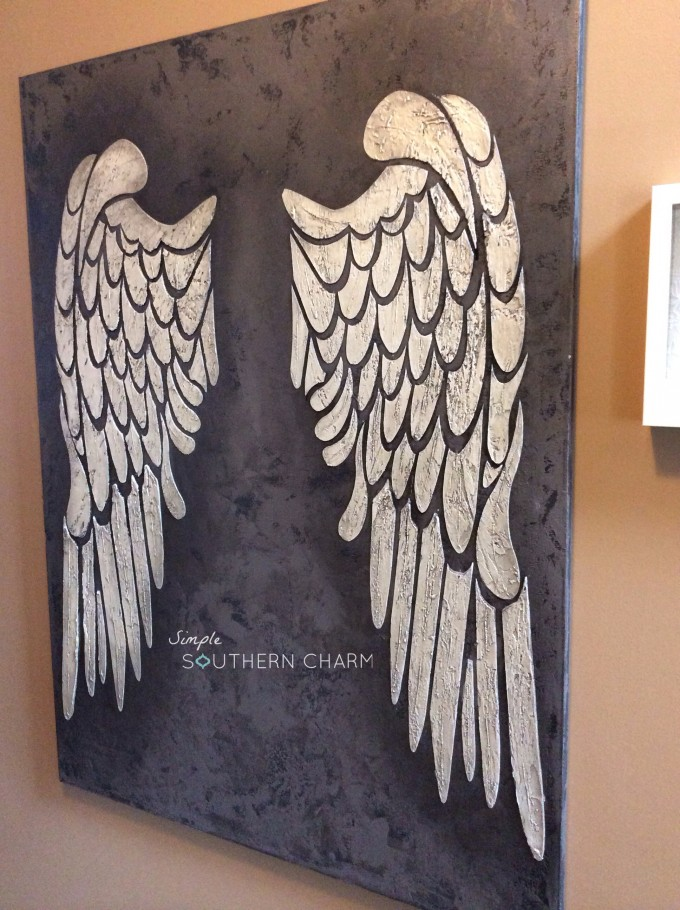 Well known Angel Wings on Canvas! - All Things Heart and Home ZI53