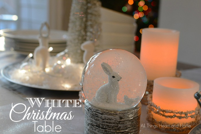 white christmas table
