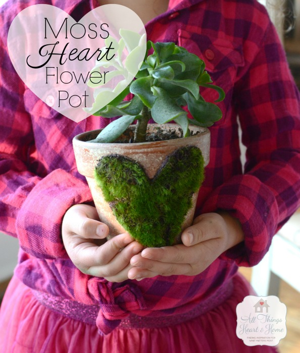 Moss-Heart-Flower-Pot