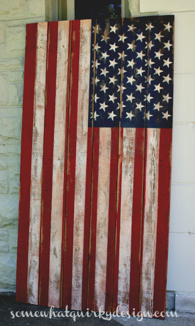 Wooden American Flag 3291