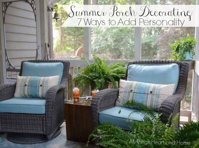 Summer Porch Decorating