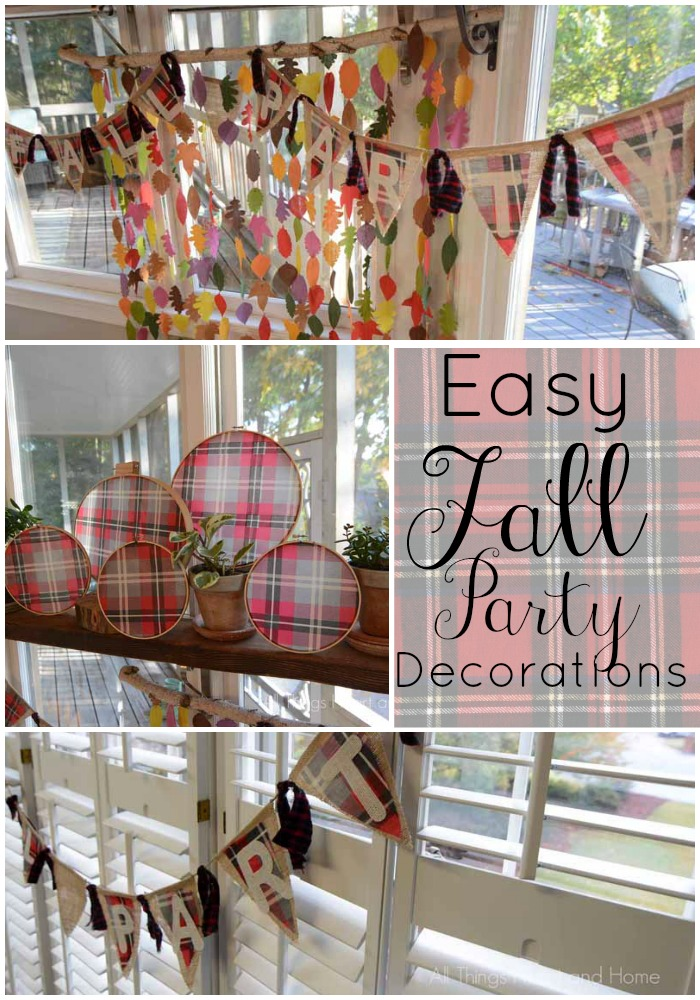 easy fall party decorations collage