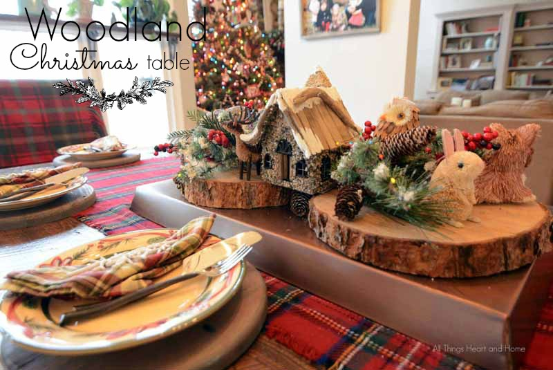 Woodland Christmas Table