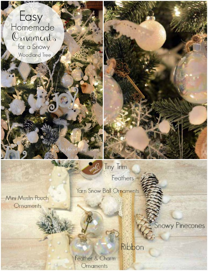 Easy Homemade Ornament for a Snowy Woodland Tree