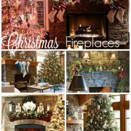 Christmas Fireplaces Natural Stone
